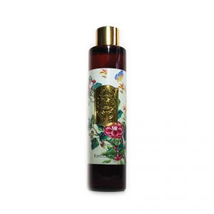 Floral scent lightly onto your body