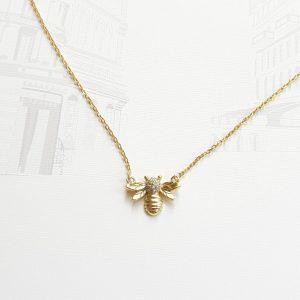 Mélanie à Paris Gold Anthophila Pendant Necklace